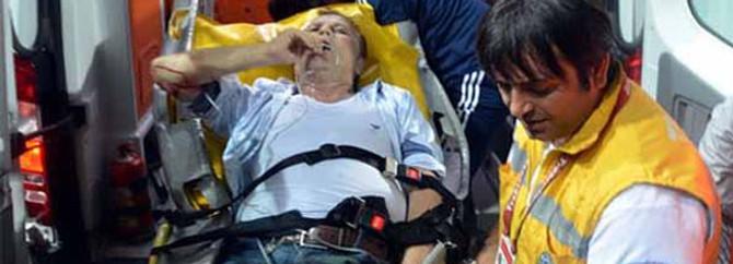Bursaspor Başkanı Yazıcı hastaneye kaldırıldı