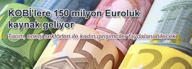KOBİ'lere 150 milyon Euroluk kaynak geliyor