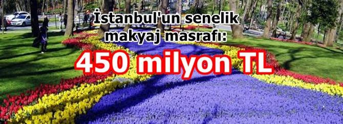 İstanbul senelik makyaj masrafı: 450 milyon lira