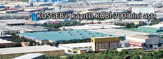 KOSGEB'e kayıtlı KOBİ 700 bini aştı