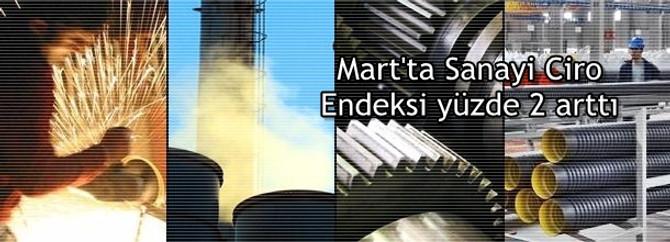 Sanayi Ciro Endeksi'nin yüzde 2 arttı