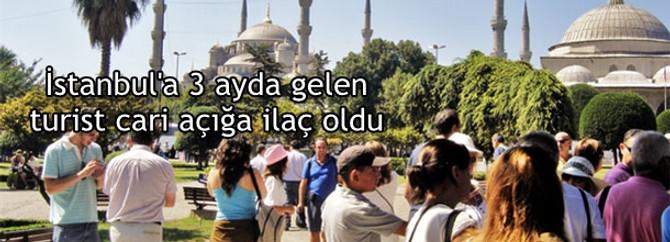 İstanbul'a ilk üç ayda gelen turist cari açığa ilaç oldu