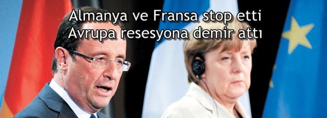 Almanya ve Fransa stop etti, Avrupa resesyona demir attı