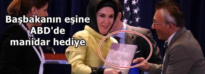 Emine Erdoğan'a ABD'de manidar hediye