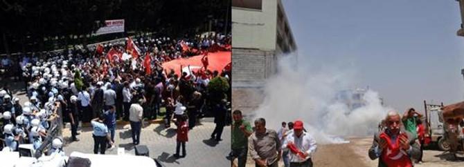 Reyhanlı'da polis göstericilerle çatıştı