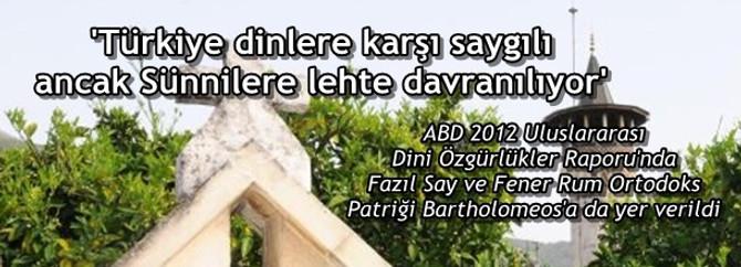 Türkiye, dinlere saygılı ancak Sünnilere lehte davranılıyor