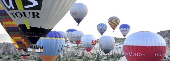 Bu sabah 90'a yakın balon havalandı