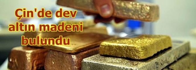 Çin'de dev altın madeni bulundu