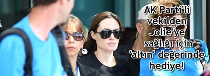 AK Parti'li vekilden Jolie'ye 'altın' değerinde hediye!