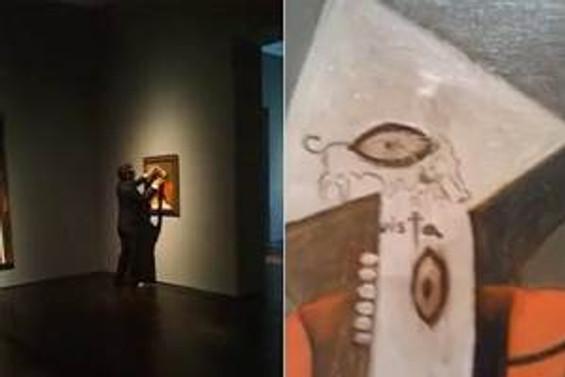 Picasso tablosunu spreyleyen vandal 2 yıl hapis yatacak