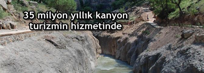 35 milyon yıllık kanyon, turizme kazandırılacak