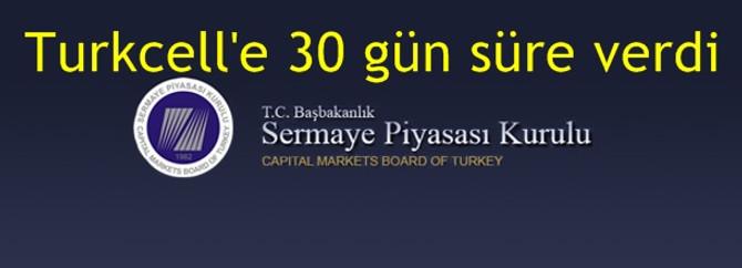Turkcell'e 30 gün süre