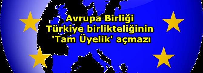 Avrupa Birliği Türkiye birlikteliğin 'Tam Üyelik' açmazı