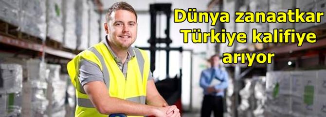Dünya zanaatkar, Türkiye kalifiye işçi arıyor
