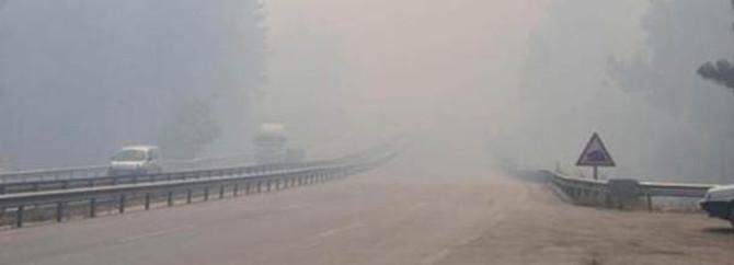 Yangın İzmir yolunu kesti