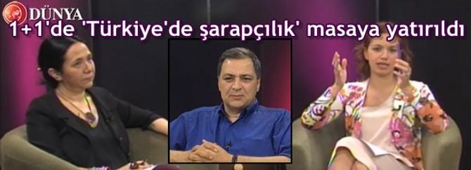 Türkiye şarapçılığı 1+1'de tartışıldı