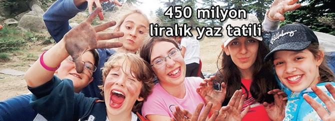 450 milyon liralık yaz tatili