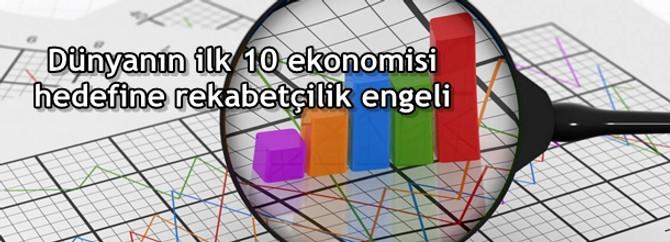 Dünyanın ilk 10 ekonomisi hedefine rekabetçilik engeli