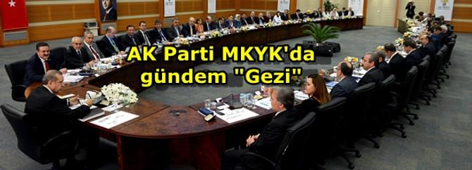 "AK Parti MKYK'da gündem ""Gezi"""