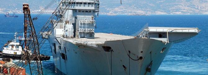 Ark Royal söküm için Aliağa'da
