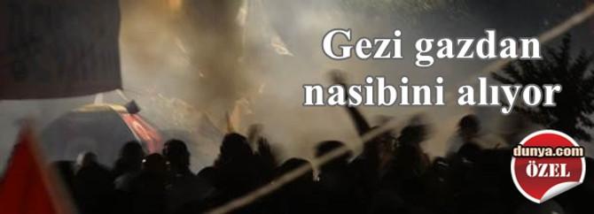 Gezi Parkı müdahaleden nasibini alıyor