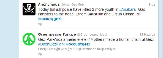 Yabancılar yüzbinlerce Twit attı