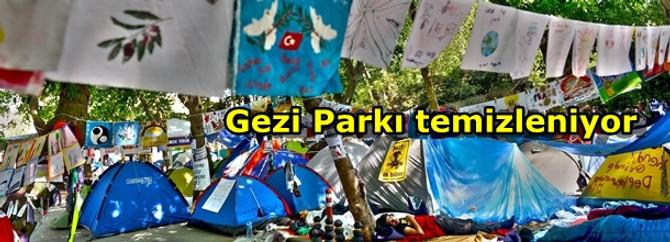 Gezi Parkı temizleniyor
