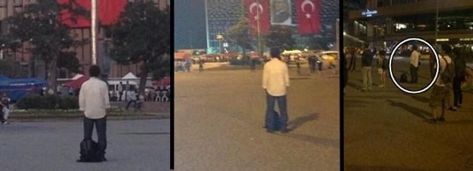 Duran adam tek başına Taksim Meydanını doldurdu