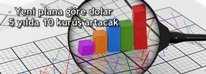 Yeni plana göre dolar 5 yılda 10 kuruş artacak