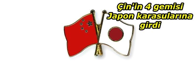 Çin'in 4 gemisi Japon karasularına girdi