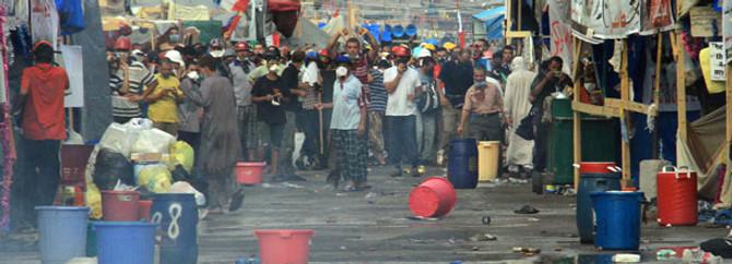Mursi destekçilerine müdahale