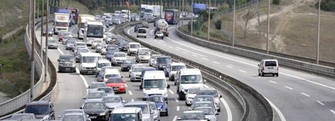 Trafikteki motorlu taşıt sayısı arttı