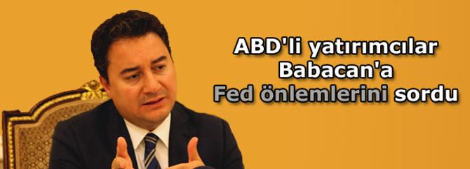 ABD'li yatırımcılar Babacan'a Fed önlemlerini sordu