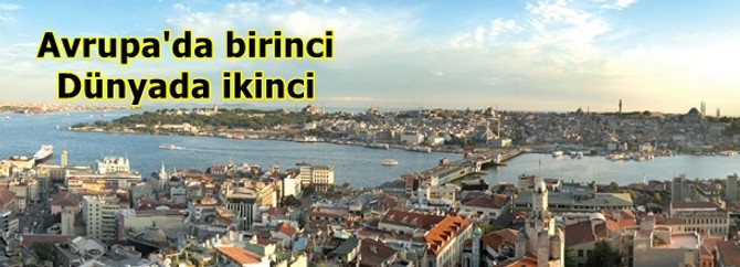 İstanbul turizm kenti yarışında birinci