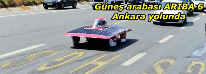 Güneş arabası ARIBA 6 Ankara yolunda