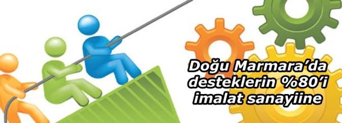 Doğu Marmara'da desteklerin %80'i imalat sanayiine