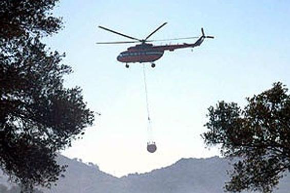 Milas'ta yangın söndürme helikopteri düştü