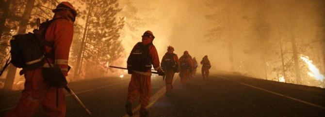 Yosemite Parkı yanıyor