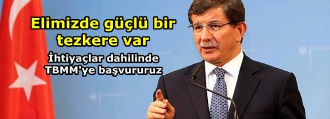 """Davutoğlu'ndan """"Suriye'ye müdahale"""" açıklaması"""