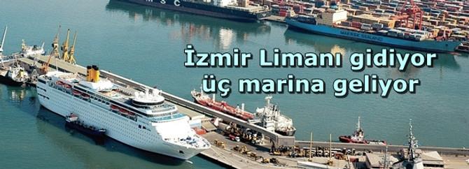 İzmir Limanı gidiyor üç marina geliyor