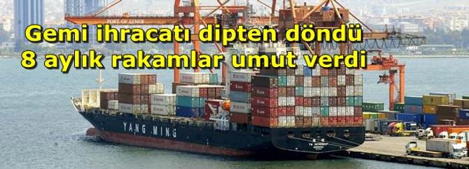 Gemi ihracatı dipten döndü