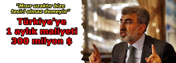 Türkiye'nin enerji maliyeti 300 milyon $ arttı