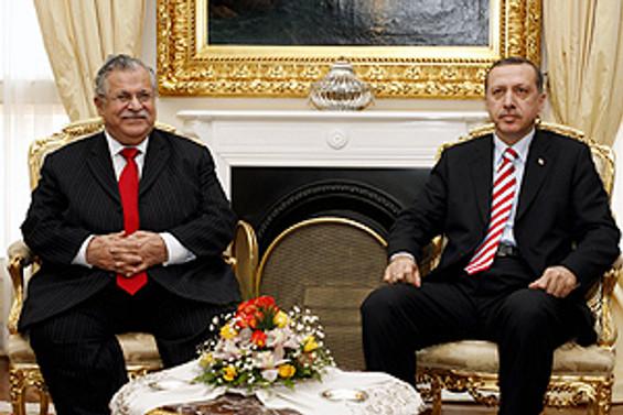 Başbakan, Talabani ile görüştü