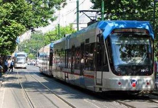 İstanbul'da tramvay istasyonunda kaza