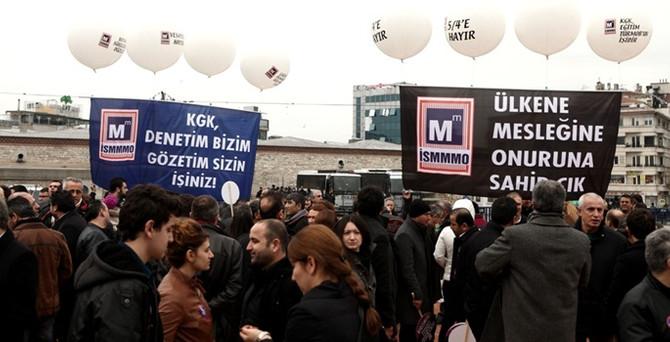 Mali Müşavirler Taksim'de 'Angaryalara Hayır' dedi