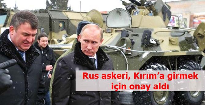 Putin'e Kırım yetkisi