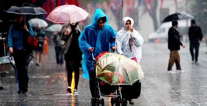 Türkiye yağışlı havanın etkisi altında