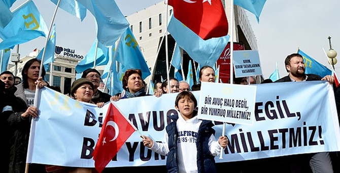 Ankara'da Kırım protestosu