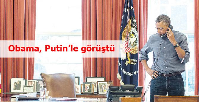 Obama, Putin'i arayarak 90 dakika görüştü