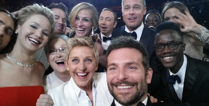 Oscar gecesinde Twitter rekoru